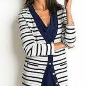 Banana Republic stripe extra fine wool cardigan